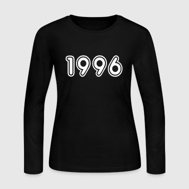 1996, Numbers, Year, Year Of Birth - Women's Long Sleeve Jersey T-Shirt