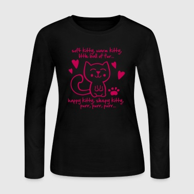 soft kitty, warm kitty, little ball of fur... - Women's Long Sleeve Jersey T-Shirt