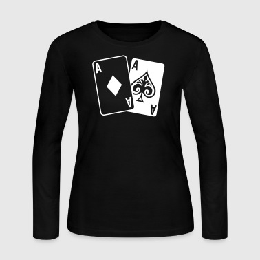 Poker - Poker Cards - Women's Long Sleeve Jersey T-Shirt