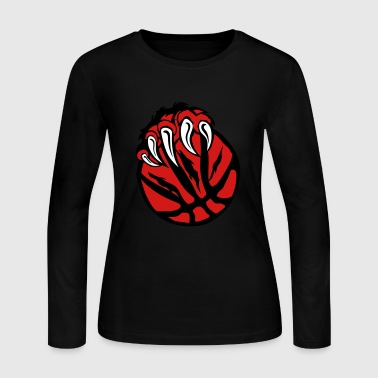 basketball paw bear beast claws - Women's Long Sleeve Jersey T-Shirt