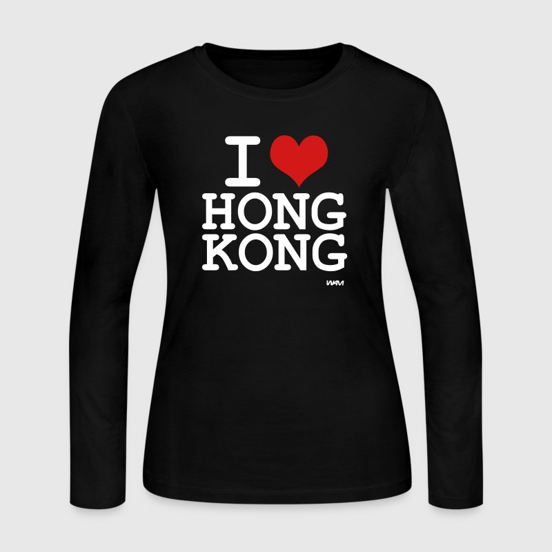 i love hong kong by wam - Women's Long Sleeve Jersey T-Shirt