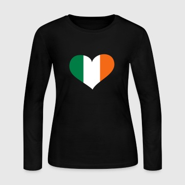 Ireland Heart; Love Ireland - Women's Long Sleeve Jersey T-Shirt