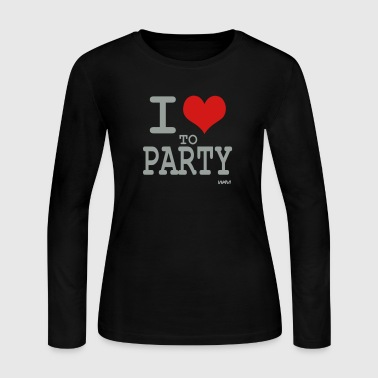 i love to party by wam - Women's Long Sleeve Jersey T-Shirt