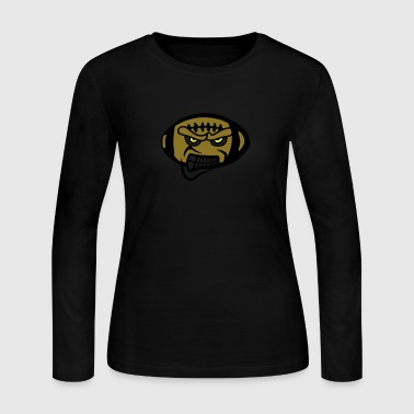 american rugby fierce football cartoon - Women's Long Sleeve Jersey T-Shirt