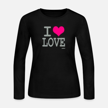 I Love i love love by wam - Women's Long Sleeve Jersey T-Shirt