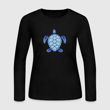 sea turtle animals 602 - Women's Long Sleeve Jersey T-Shirt