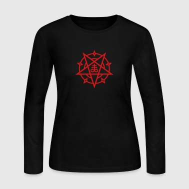 Pentagram + Satan's Cross No.1_1c - Women's Long Sleeve Jersey T-Shirt