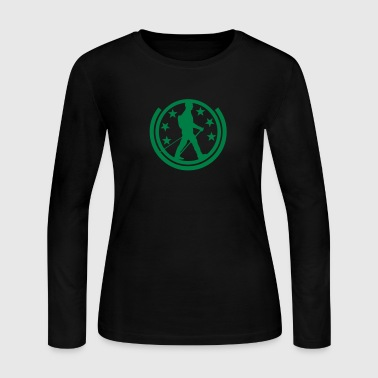 nordic walking stick logo buffer 1 - Women's Long Sleeve Jersey T-Shirt