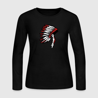 indian chief headdress - Women's Long Sleeve Jersey T-Shirt