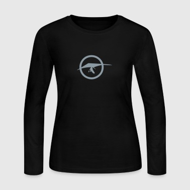 hang glider 1 logo - Women's Long Sleeve Jersey T-Shirt