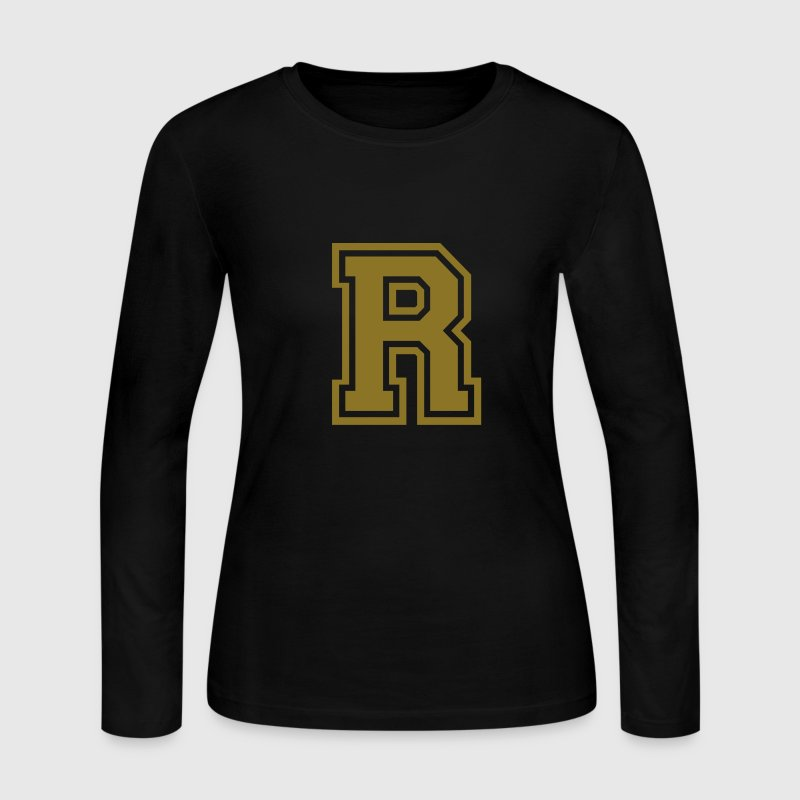 Letter R - Women's Long Sleeve Jersey T-Shirt
