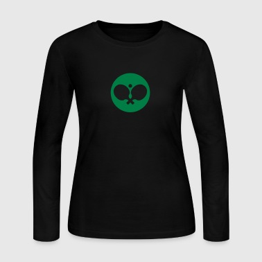 tennis racket ball ping pong - Women's Long Sleeve Jersey T-Shirt
