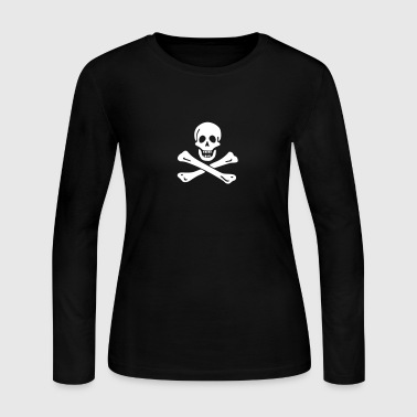 Jolly roger Pirate flag - Women's Long Sleeve Jersey T-Shirt