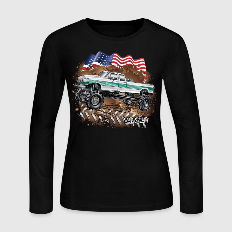 Ford Bronco F350 Mega Truck - Women's Long Sleeve Jersey T-Shirt