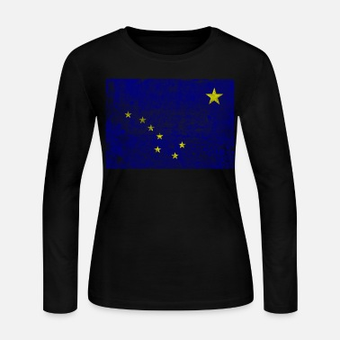 Alaska aged flag - Women's Long Sleeve Jersey T-Shirt