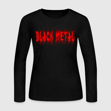 BLACK METAL - Women's Long Sleeve Jersey T-Shirt