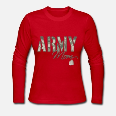 army_mom_camo_w_dog_tags - Women's Long Sleeve Jersey T-Shirt