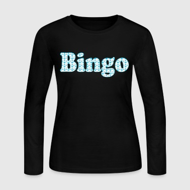 bingo_hearts_text_t - Women's Long Sleeve Jersey T-Shirt