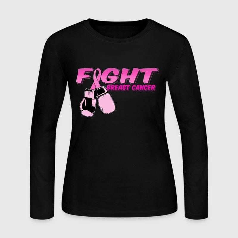 Fight Breast Cancer Pink Boxing Gloves 2 - Women's Long Sleeve Jersey T-Shirt