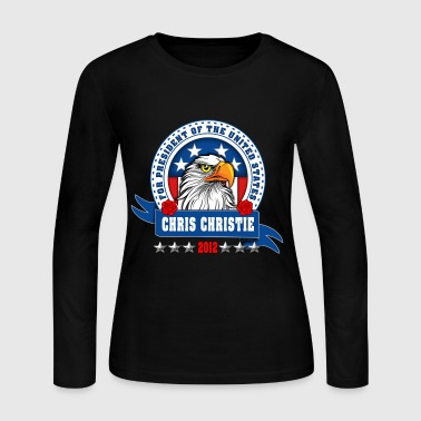 Chris Christie for president 2012 Eagle head - Women's Long Sleeve Jersey T-Shirt