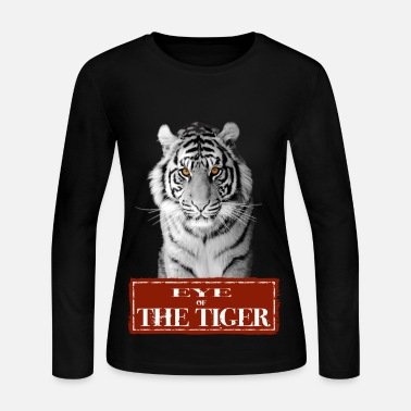Tiger Eye of the Tiger White - Women's Long Sleeve Jersey T-Shirt
