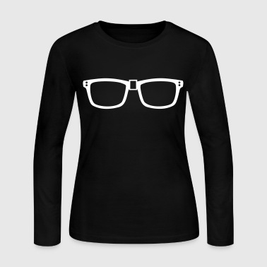 glasses - nerd - Women's Long Sleeve Jersey T-Shirt