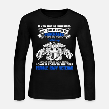 Female Female Navy Veteran Shirt - Women's Long Sleeve Jersey T-Shirt