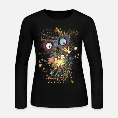 Spreadshirtlikes shocked zombie - Women's Long Sleeve Jersey T-Shirt