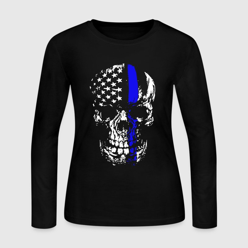 Thin Blue Line Shirt - Women's Long Sleeve Jersey T-Shirt