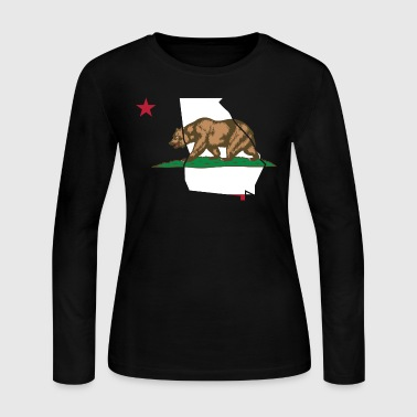 Georgia California Funny Pride Bear Tshirt - Women's Long Sleeve Jersey T-Shirt