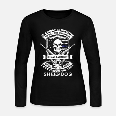 Sheepdog Police Sheepdog Shirt - Women's Jersey Longsleeve Shirt