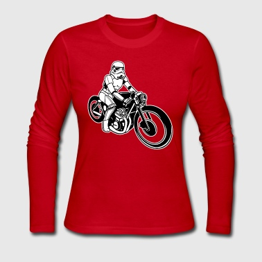 Stormtrooper Motorcycle - Women's Long Sleeve Jersey T-Shirt