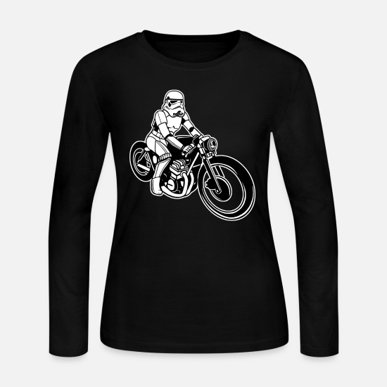 Bestsellers Q4 2018 Long-Sleeve Shirts - Stormtrooper Motorcycle - Women's Jersey Longsleeve Shirt black