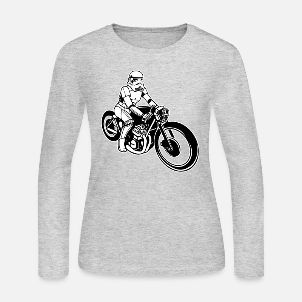 39a287298ea Stormtrooper Motorcycle Women S Jersey Longsleeve Shirt Spreadshirt