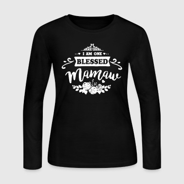 Mamaw One Blessed Mamaw Shirt - Women's Long Sleeve Jersey T-Shirt