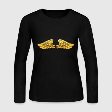golden-angel-wings-angelic-wings - Women's Long Sleeve Jersey T-Shirt