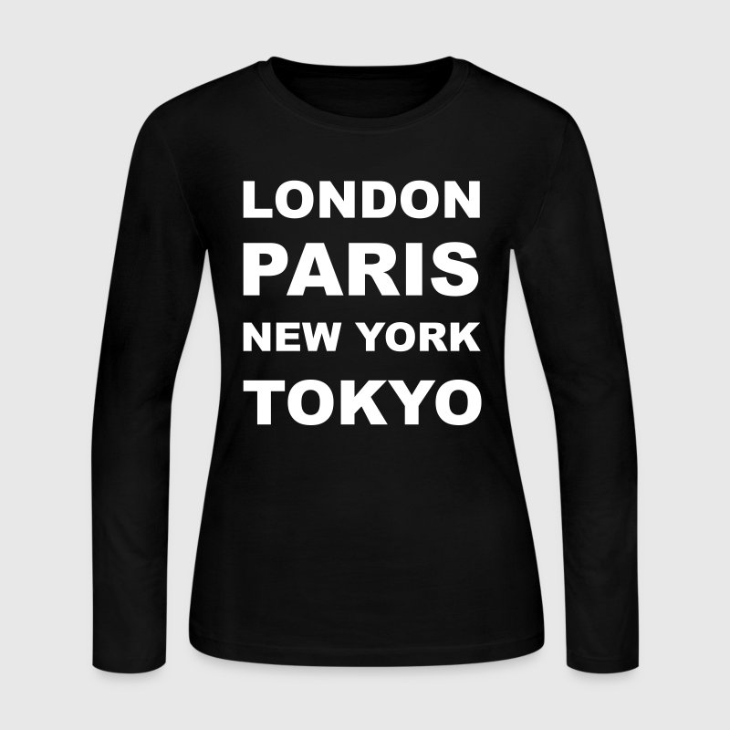 London, Paris, New York, Tokyo - Women's Long Sleeve Jersey T-Shirt
