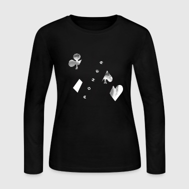 poker cards chips playing game gift casion - Women's Long Sleeve Jersey T-Shirt