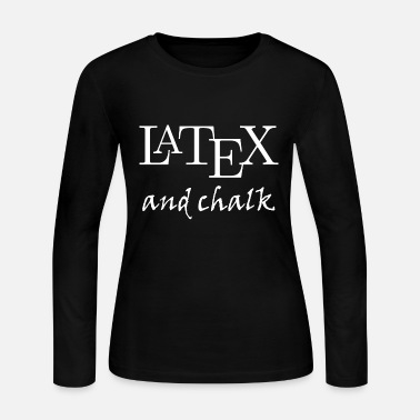 Latex LaTeX and chalk - Women's Long Sleeve Jersey T-Shirt