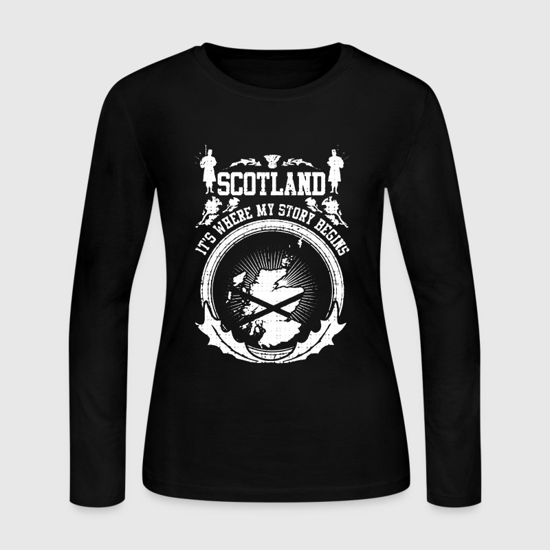 Scotland Where My Story Begins - Women's Long Sleeve Jersey T-Shirt