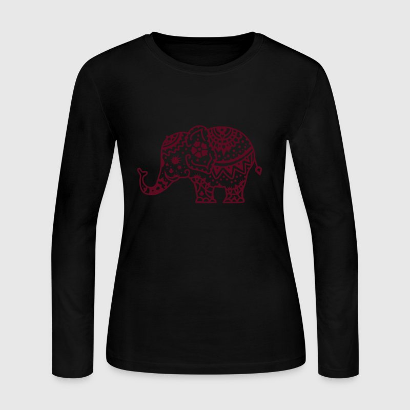 a decorated Indian elephant - Women's Long Sleeve Jersey T-Shirt