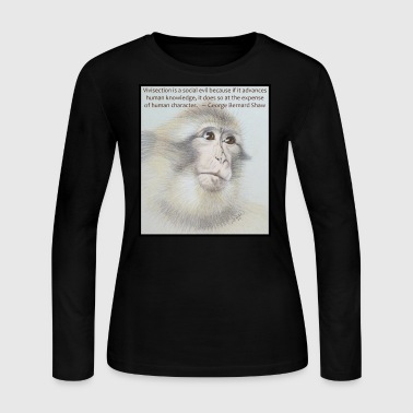 Macaque - Don't Test On Animals - Women's Long Sleeve Jersey T-Shirt