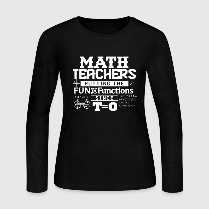 Math Teacher Shirt - Women's Long Sleeve Jersey T-Shirt