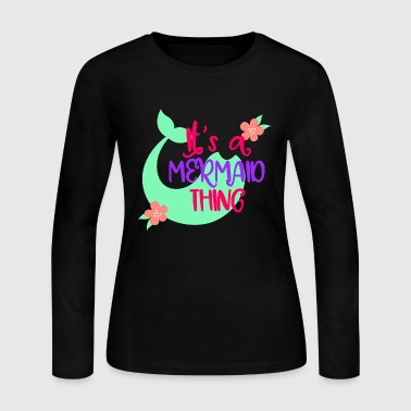 MermaidThing - Women's Long Sleeve Jersey T-Shirt