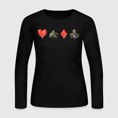 Pearl Card Suits - Women's Long Sleeve Jersey T-Shirt