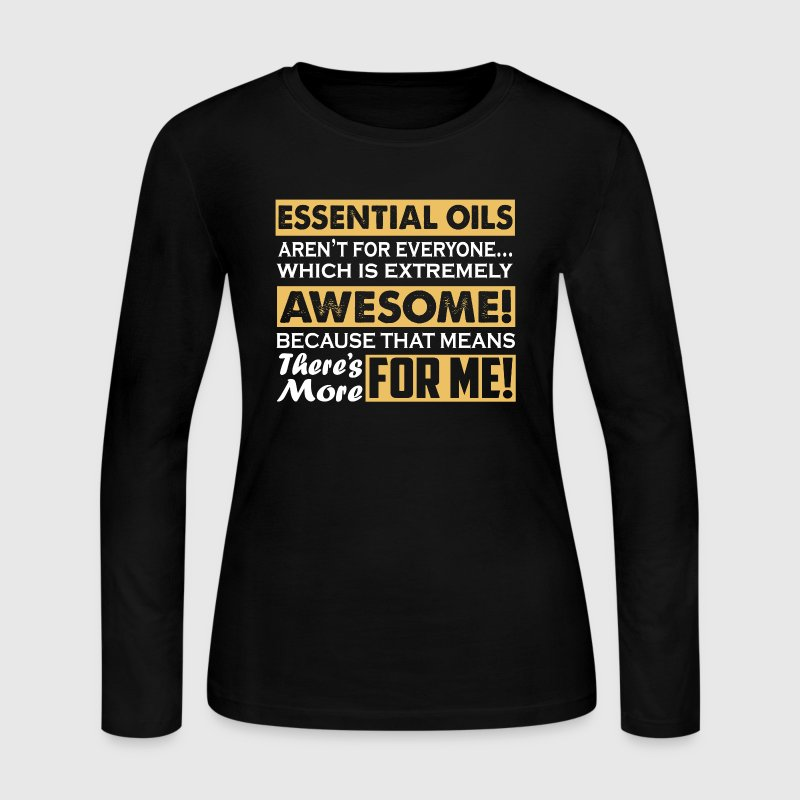 Essential Oils Shirt - Women's Long Sleeve Jersey T-Shirt
