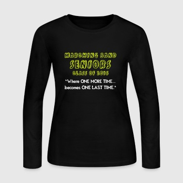 Marching Band Seniors - Women's Long Sleeve Jersey T-Shirt