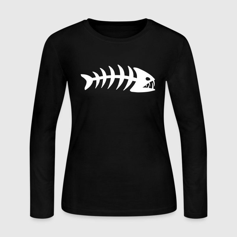 Fish Bone - Women's Long Sleeve Jersey T-Shirt
