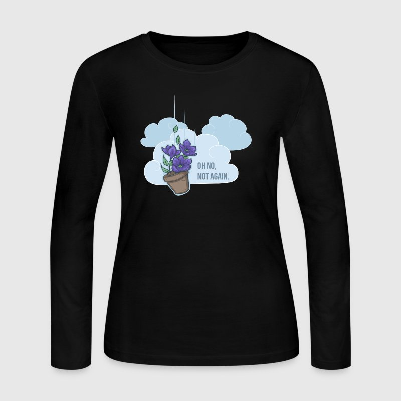 Thoughts of a falling bowl of petunias - Women's Long Sleeve Jersey T-Shirt