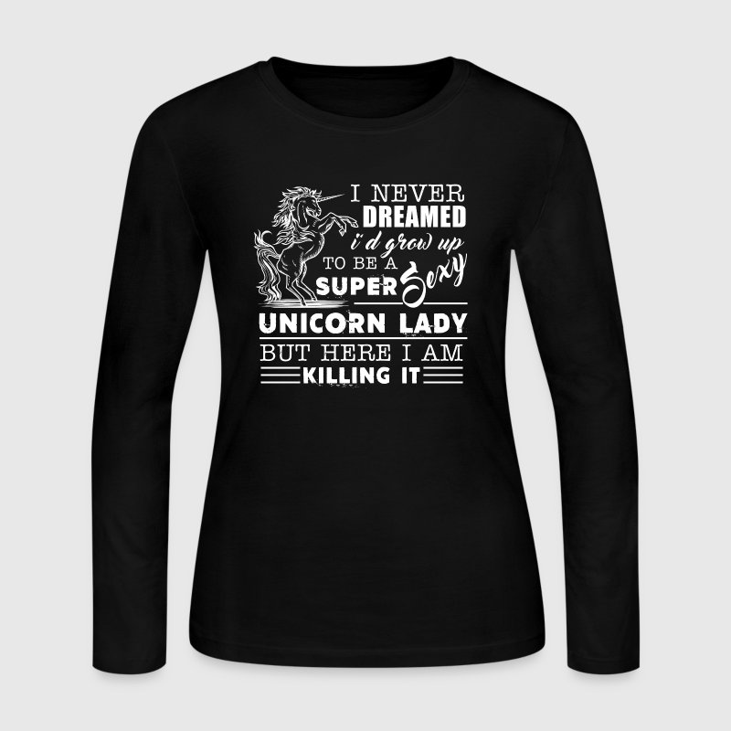 Super Sexy Unicorn Lady - Women's Long Sleeve Jersey T-Shirt
